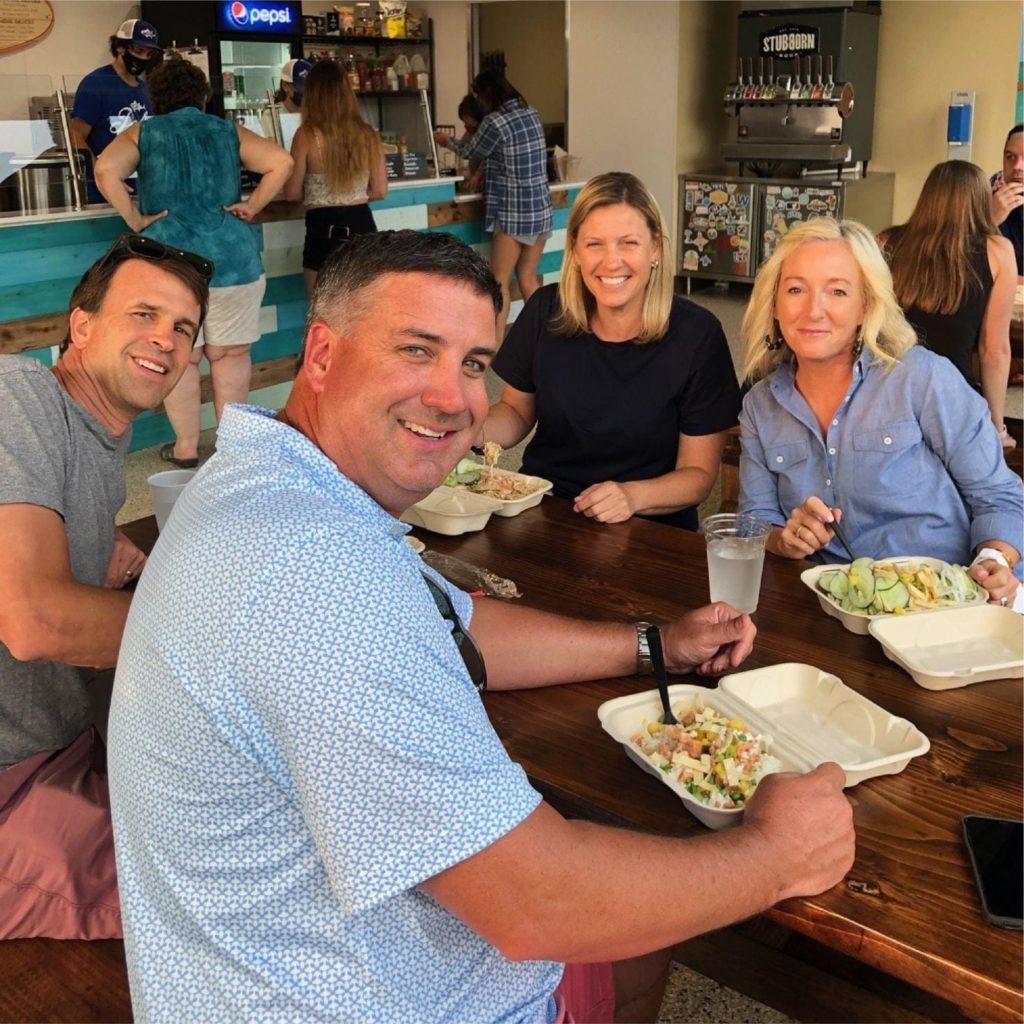 Customers Eating Poke Bowls North Las Vegas